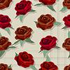 ID 4098321 | Retro style rose pattern | Klipart wektorowy | KLIPARTO