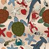 Sea life nahtlose Muster