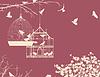 Vögel und Vogelkäfige Postkarte 10