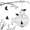Offenen Käfig und Vögel Silhouetten