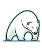 Estilizada sueño oso polar blanco | Ilustración vectorial