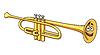 Векторный клипарт: Мультяшный медная труба