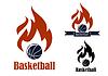Векторный клипарт: Баскетбол спортивные эмблемы
