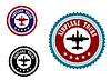 Векторный клипарт: Символ авиации с самолета