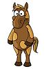 Векторный клипарт: Мультяшный лошадь характер