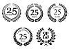 Векторный клипарт: Юбилейная Юбилейная лавровые венки набор