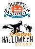 Векторный клипарт: Хэллоуин темы с ведьмой и тыквами