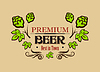 Векторный клипарт: Премиум баннер пиво или эмблема