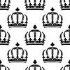 Векторный клипарт: Бесшовные старинных королевских корон