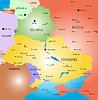 Weißrussland und der Ukraine Land