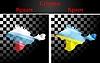 Russische und ukrainische Fahnen auf der Krim