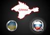 Konzeptionelle Bild von der Lage auf der Krim