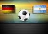 Fußball-Hintergrund. Deutschland und Argentinien Fußball