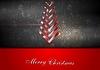 Векторный клипарт: Ярко-красный елка фон Рождество