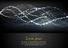 Векторный клипарт: Абстрактный блестящей световая волна яркий фон