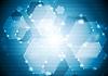 Векторный клипарт: Блестящий игристое фона тек шестиугольники