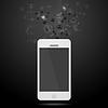 Векторный клипарт: Команда подключения абстрактный фон с мобильного телефона