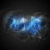 Векторный клипарт: Абстрактный синий фон глянцевые квадраты