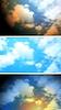 Векторный клипарт: Абстрактные яркие облака небо баннеры