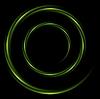 Векторный клипарт: Абстрактный блестящей водоворот круг логотип фон