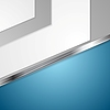 Векторный клипарт: Корпоративный синий дизайн с металлической полосой