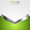 Векторный клипарт: Абстрактный корпоративный фон с металлической стрелкой