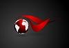 Векторный клипарт: Абстрактные технические логотип с темной миру