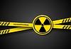 Gefahr Band abstrakten Hintergrund mit Strahlung