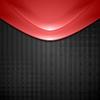 Векторный клипарт: Абстрактный красные волны дизайн. Технология фон