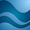 Векторный клипарт: Ярко-синий корпоративные волны