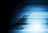 Векторный клипарт: На синем фоне технологии