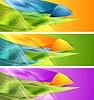 Векторный клипарт: Яркие баннеры с абстрактными формами