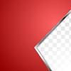 Векторный клипарт: Абстрактный красный фон с металлической полосой