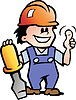 Hand-, Heimwerker-Ein frohes Mechanic