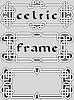 Stellen Sie eine keltische Rahmengestaltungselement