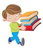 Junge hält Buch