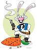 Cowboy weißen Kaninchen