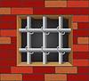 Gittern auf Mauer
