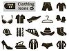 Icons von Bekleidung