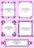 Sammlung von Frames und Ornamente mit Beispieltext
