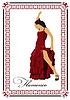 Schöne junge Frau tanzt Flamenco