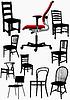 Große Sammlung von Haus und Büro Stuhl Silhouetten