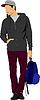 Junger Mann mit Tasche