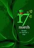 von grünen Hüten und Kleeblätter für St. Patrick `s Day
