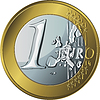 money gold coin one euro