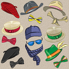 Set hipster accessories | Stock Vector Graphics