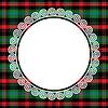 nahtlose Muster schottischen Tartan mit Rahmen