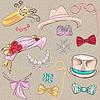 ID 4138777 | Набор шляп и аксессуаров | Векторный клипарт | CLIPARTO