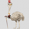 Hipster zabawny struś Ptak | Stock Vector Graphics