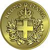 Geld Gold italienische Münze zwanzig Centesimo